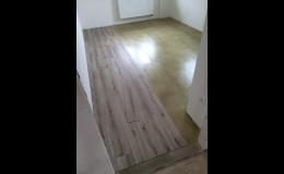 Pokládka nové podlahy v interiérech Brno-venkov, Ivančice, Rosice, Moravský Krumlov