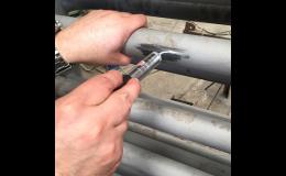 Testování tvrdosti strojních částí, kalených dílů, svarů