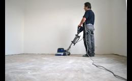 Vyrovnání podkladu před pokládkou podlahové krytiny