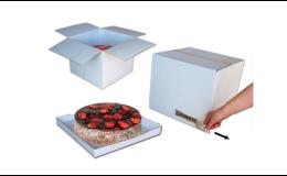 Klopová krabice pro převoz dortů