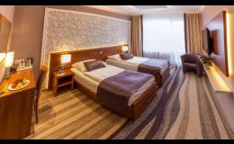 Moderní hotelové pokoje s koupelnou, TV, minibarem