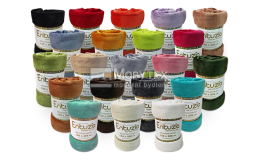 Široká škála barev mikroflanelových dek