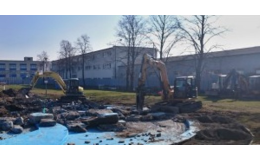 Zemní a výkopové práce, vykopání základů staveb