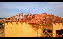 Výroba a montáž dřevěných lisovaných příhradových vazníků
