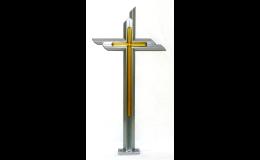 Ocelové kříže hranolové v nerez barvě