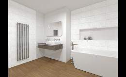 Výběr koupelnových armatur, sanity, obkladů, dlažby