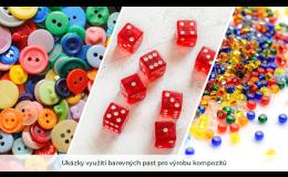 Dodání barevných past pro kompozitní výrobky