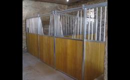 Výroba vnitřních boxů pro koně - Equicov s.r.o., Třebíčsko