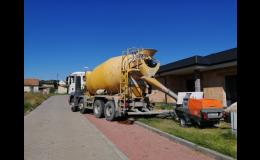 Čerpání anhydritu na lité podlahy staveb občanské vybavenosti