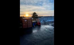 Skladování zboží, skladové kontejnery, manipulace se zbožím