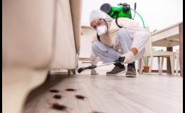 Dezinsekce - likvidace štěnic, švábů, mravenců, blech, rusů