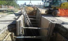 Budování vodovodů a kanalizací, zemní práce