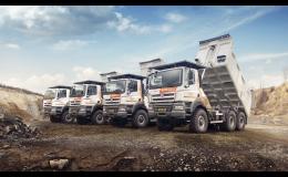 Přeprava stavebnin a sypkých hmot nákladními vozy Tatra