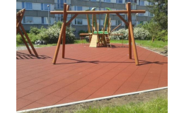 Pryžová protipádová dlažba pro herní komfort a bezpečnost dětí