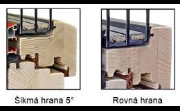 Dřevohliníková okna s rovnou nebo sešikmenou hranou