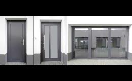 Výroba a montáž dřevohliníkových vchodových dveří