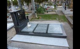 Opravy a renovace hrobů a pomníků z přírodního i umělého kamene