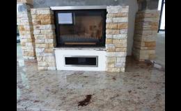 Kamenné obklady a dlažba v interiéru