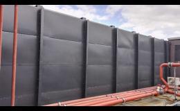 Protihluková stěna pro průmyslové, sportovní, zemědělské haly