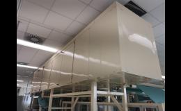 Výroba protihlukových krytů k odhlučnění strojů, ventilátorů