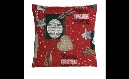 Textilní polštáře, zástěry, ubrusy, prostírání s vánočním motivem