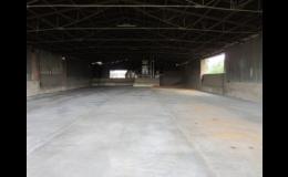 Rekonstrukce starých betonových podlah litým asfaltem