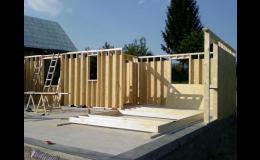 Dřevostavba od firmy Stavby Nisa s.r.o. ve výstavbě