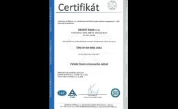 Certifikát v oboru Výroba forem a lisovacích nářadí