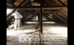Stříkaná pěnová izolace k zateplení střech, stropů - Znojmo, Brno, Třebíč