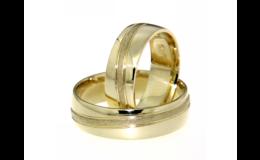 Prodej snubních prstenů ze žlutého, bílého, červeného zlata