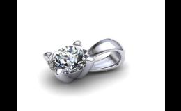 Přívěsky s brilianty a další šperky s drahokamy