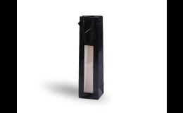 Papírová taška na 1 lahev vína v černé barvě