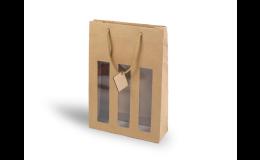 Dárková papírová taška pro 3 lahve vína