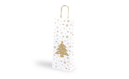 Dárková taška na víno s vánočním motivem