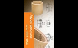 Komínové vložky a tvarovky s velkou rozměrovu přesností