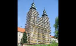 Fasádní rámová lešení SPRINT od SCASERV a. s. Ostrava