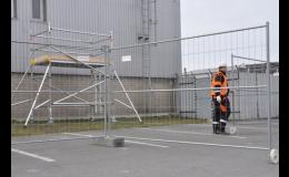Mobilní oplocení na stavby, pro skladové plochy