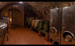 Vína ve vinném sklepě ve Velkých Pavlovicích