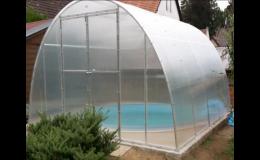Výroba zastřešení vašeho bazénu - Skleníky Bureš