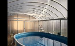 Zastřešení vhodné i pro nadzemní bazény