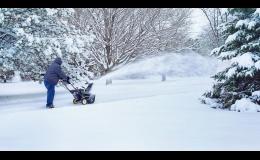 Odklízení sněhu v zimním období