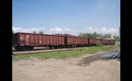Přeprava kovošrotu vlastními železničními vagony