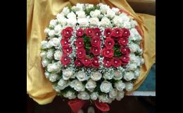Květinová vazba k výročí v e-shopu