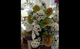 Různé vazby kytic - květinářství Bellis Prostějov