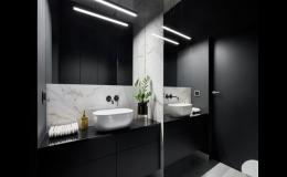 Obložení stěny kolem umyvadla v koupelně