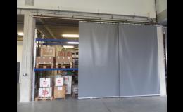 Posuvné PVC plachty do skladovacích hal