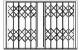 Nůžkové mříže s antikorozní úpravou