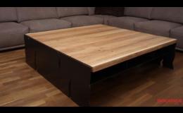 Konferenční stolky, jídelní stoly, komody