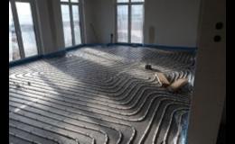 Montáž podlahového topení včetně polystyrénu