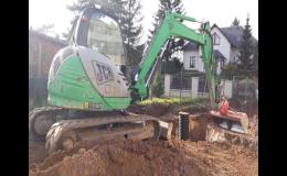 Zemní práce, úpravy terénů - ČERNOHORSKÝ s.r.o. Opava